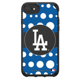 Speck Black Presidio Series Phone case with Los Angeles Dodgers Primary Logo with Polka Dots