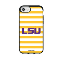 Speck Black Presidio Series Phone case with LSU Tigers Primary Logo and Striped Design