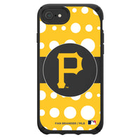 Speck Black Presidio Series Phone case with Pittsburgh Pirates Primary Logo with Polka Dots