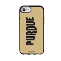 Speck Black Presidio Series Phone case with Purdue Boilermakers Wordmark Design