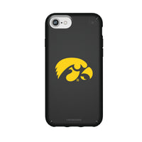 Speck Black Presidio Series Phone case with Iowa Hawkeyes Primary Logo