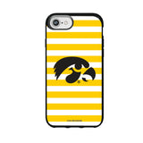 Speck Black Presidio Series Phone case with Iowa Hawkeyes Primary Logo and Striped Design