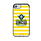 Speck Black Presidio Series Phone case with UNC Wilmington Seahawks Primary Logo and Striped Design