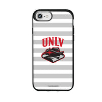 Speck Black Presidio Series Phone case with UNLV Rebels Primary Logo and Striped Design