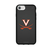 Speck Black Presidio Series Phone case with Virginia Cavaliers Primary Logo on Repeating Wordmark Background