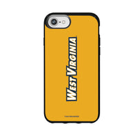 Speck Black Presidio Series Phone case with West Virginia Mountaineers Wordmark Design