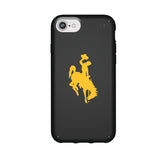 Speck Black Presidio Series Phone case with Wyoming Cowboys Primary Logo