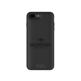 mophie Juice Pack Air battery phone case with Babson University Primary Logo in Black