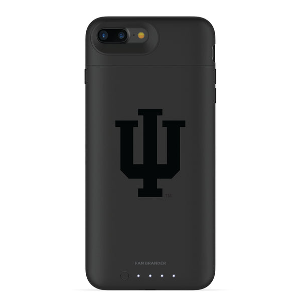 mophie Juice Pack Air battery phone case with Indiana Hoosiers Primary Logo in Black