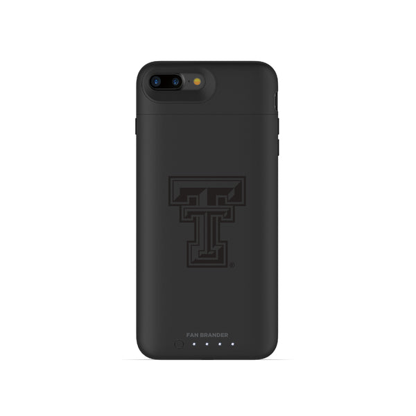 mophie Juice Pack Air battery phone case with Texas Tech Red Raiders Primary Logo in Black