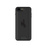 mophie Juice Pack Air battery phone case with Wyoming Cowboys Primary Logo in Black