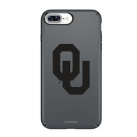 Speck Black Presidio Series Phone case with Oklahoma Sooners Primary Logo in Black