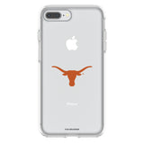 OtterBox clear Phone case with Texas Longhorns  Primary Logo