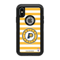OtterBox Black Phone case with Indiana Pacers Primary Logo and Striped Design