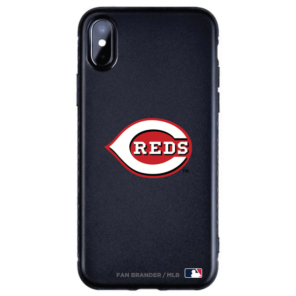 Fan Brander Black Slim Phone case with Cincinnati Reds Primary Logo
