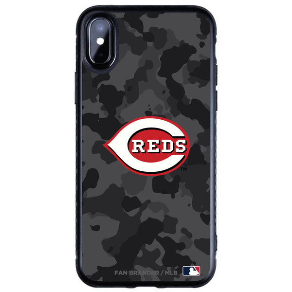 Fan Brander Black Slim Phone case with Cincinnati Reds Urban Camo design