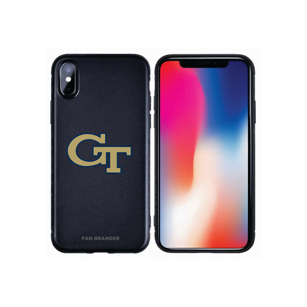 Fan Brander Black Slim Phone case with Georgia Tech Yellow Jackets Primary Logo