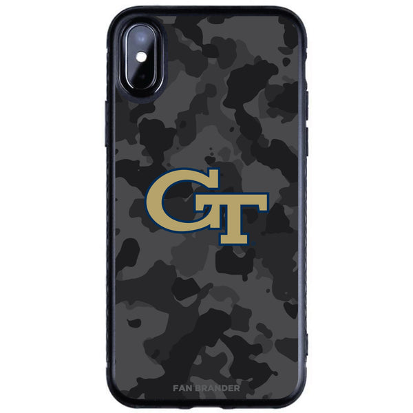 Fan Brander Black Slim Phone case with Georgia Tech Yellow Jackets Urban Camo design