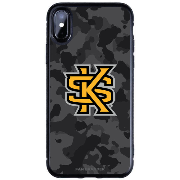 Fan Brander Black Slim Phone case with Kennesaw State Owls Urban Camo design