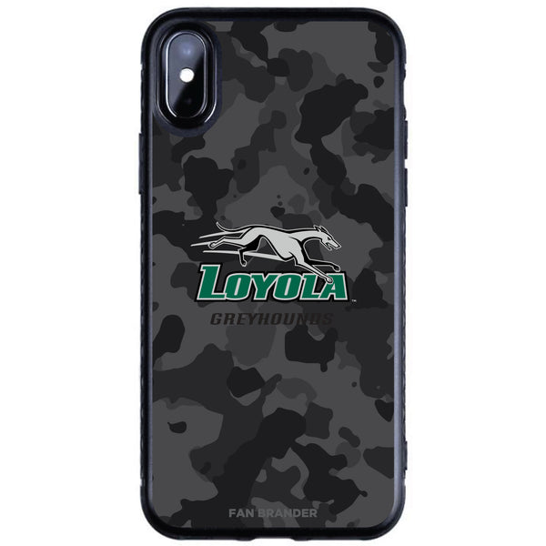 Fan Brander Black Slim Phone case with Loyola Univ Of Maryland Hounds Urban Camo design