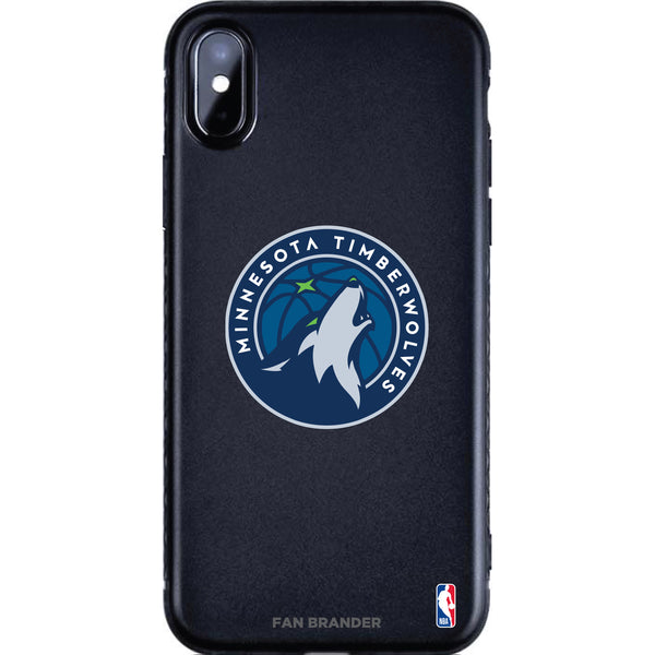 Fan Brander Black Slim Phone case with Minnesota Timberwolves Primary Logo