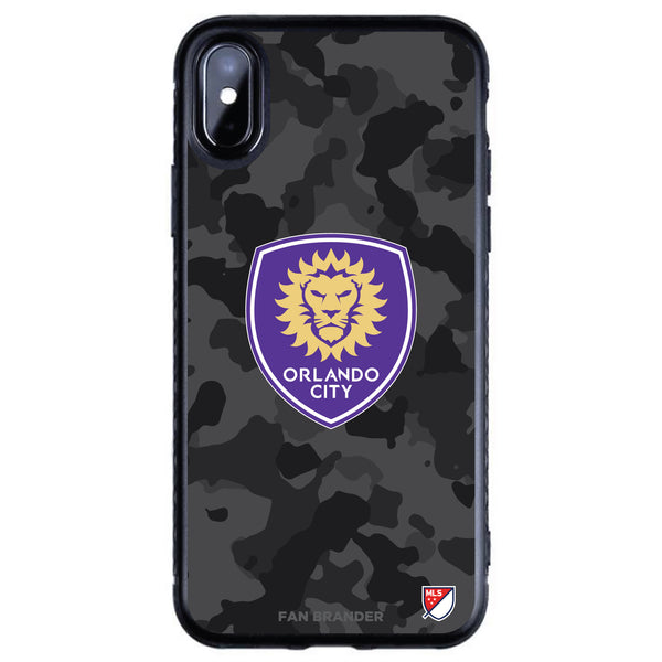 Fan Brander Black Slim Phone case with Orlando City SC Urban Camo design