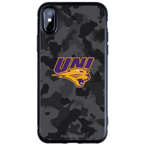 Fan Brander Black Slim Phone case with Northern Iowa Panthers Urban Camo design