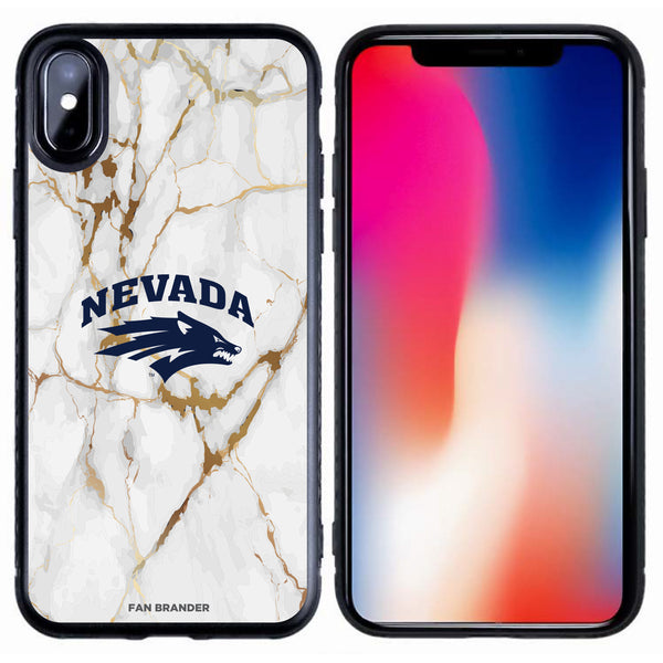 Fan Brander Black Slim Phone case with Nevada Wolf Pack White Marble design