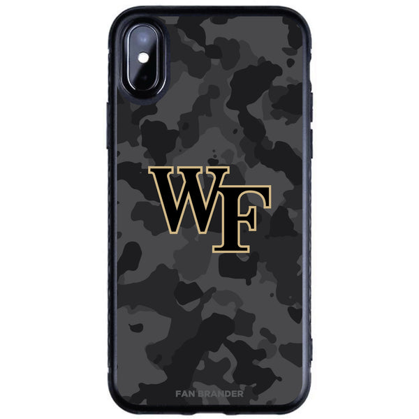 Fan Brander Black Slim Phone case with Wake Forest Demon Deacons Urban Camo design