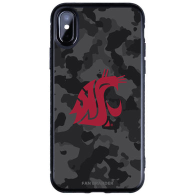 Fan Brander Black Slim Phone case with Washington State Cougars Urban Camo design