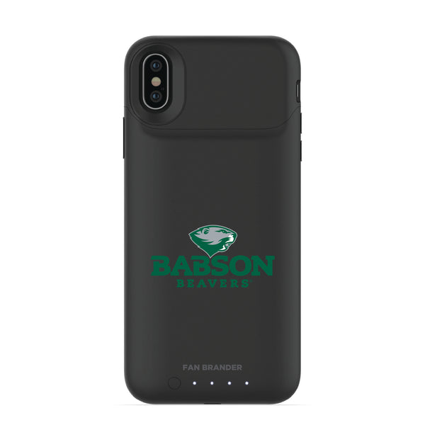 mophie Juice Pack Air battery phone case with Babson University Primary Logo