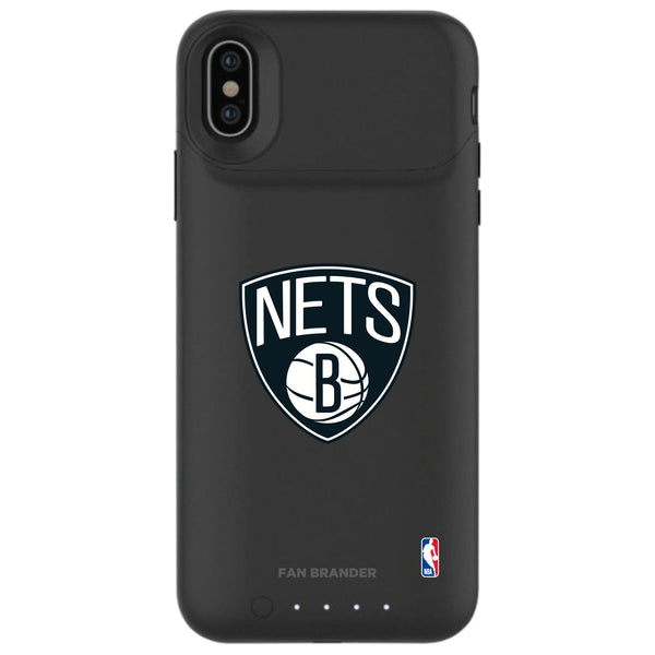 mophie Juice Pack Air battery phone case with Brooklyn Nets Primary Logo