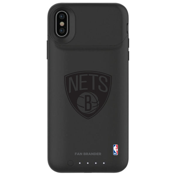 mophie Juice Pack Air battery phone case with Brooklyn Nets Primary Logo in Black