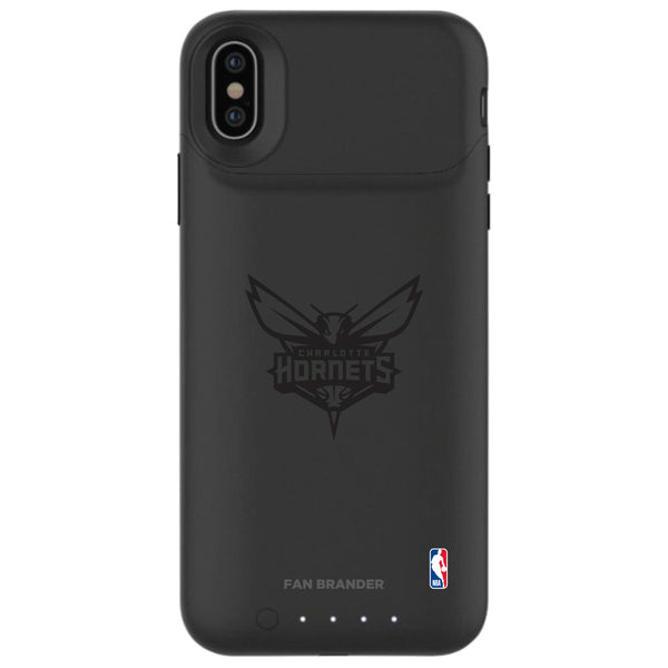 mophie Juice Pack Air battery phone case with Charlotte Hornets Primary Logo in Black