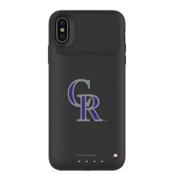 mophie Juice Pack Air battery phone case with Colorado Rockies Primary Logo
