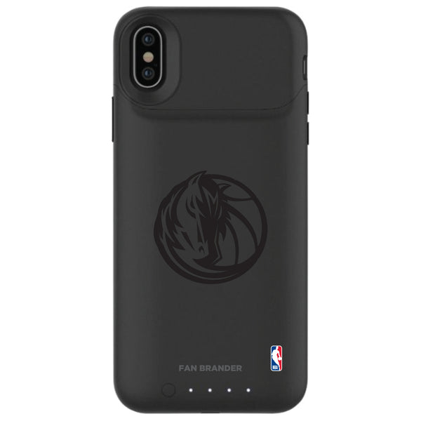 mophie Juice Pack Air battery phone case with Dallas Mavericks Primary Logo in Black