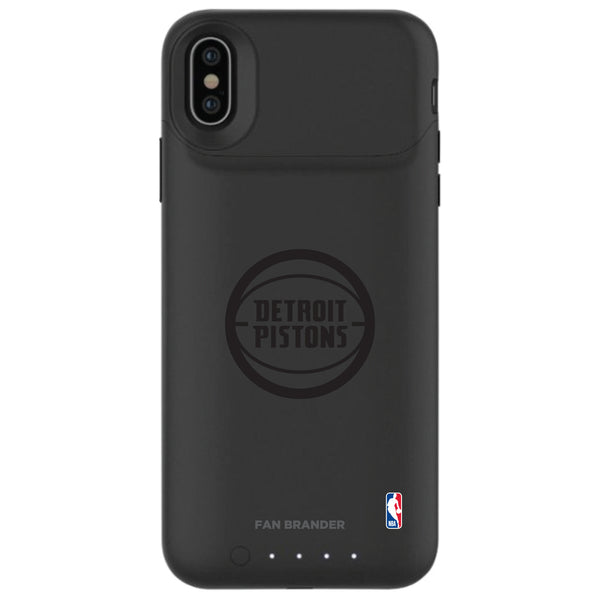 mophie Juice Pack Air battery phone case with Detroit Pistons Primary Logo in Black