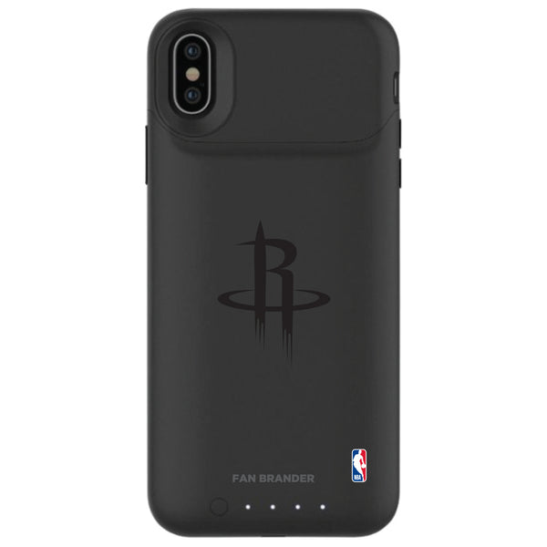 mophie Juice Pack Air battery phone case with Houston Rockets Primary Logo in Black