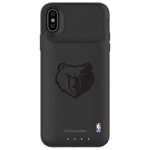 mophie Juice Pack Air battery phone case with Memphis Grizzlies Primary Logo in Black
