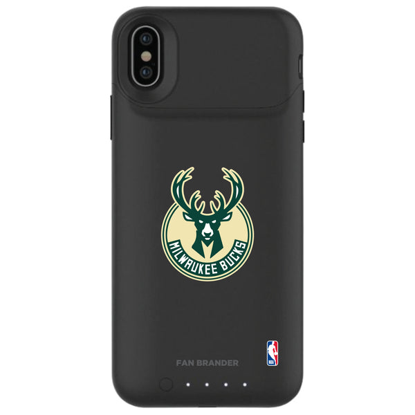 mophie Juice Pack Air battery phone case with Milwaukee Bucks Primary Logo