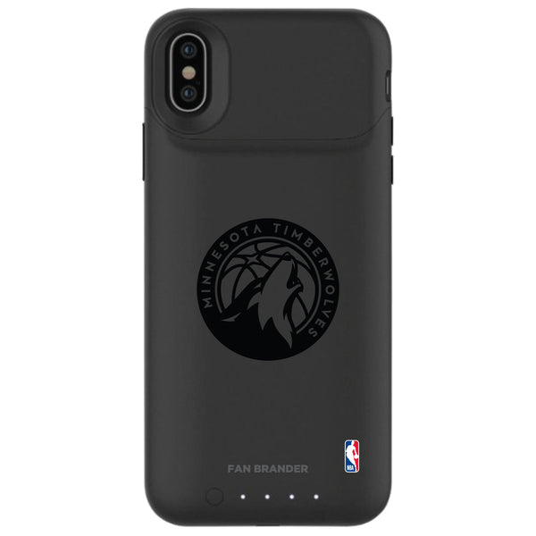 mophie Juice Pack Air battery phone case with Minnesota Timberwolves Primary Logo in Black