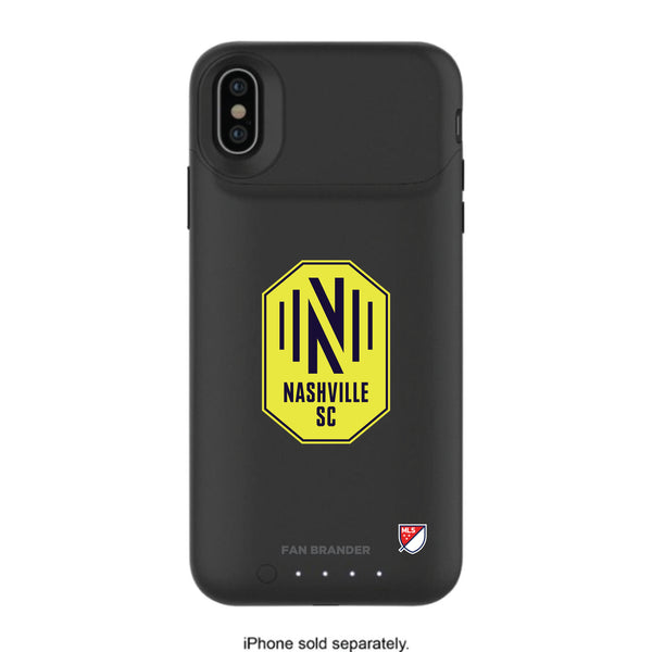 mophie Juice Pack Air battery phone case with Nashville SC Primary Logo
