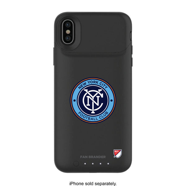 mophie Juice Pack Air battery phone case with New York City FC Primary Logo