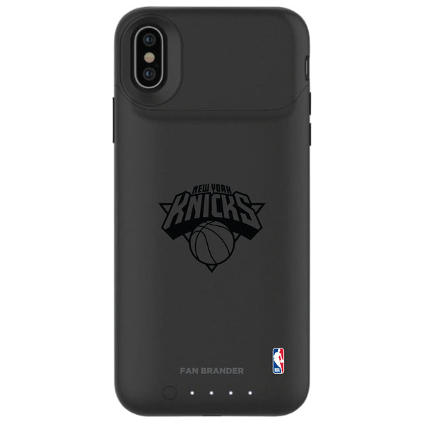 mophie Juice Pack Air battery phone case with New York Knicks Primary Logo in Black