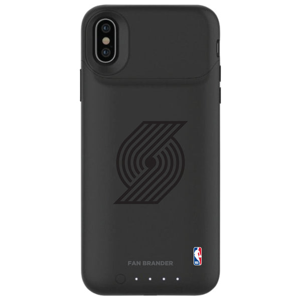 mophie Juice Pack Air battery phone case with Portland Trailblazers Primary Logo in Black