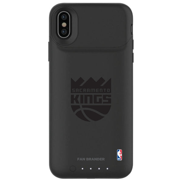 mophie Juice Pack Air battery phone case with Sacramento Kings Primary Logo in Black
