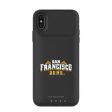 mophie Juice Pack Air battery phone case with San Francisco Dons Primary Logo