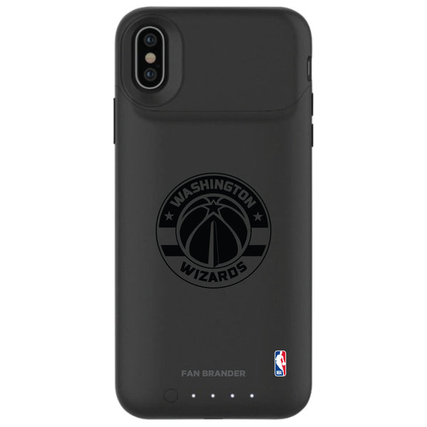 mophie Juice Pack Air battery phone case with Washington Wizards Primary Logo in Black