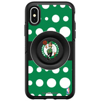OtterBox Otter + Pop symmetry Phone case with Boston Celtics Primary Logo Polka Dots design