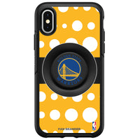 OtterBox Otter + Pop symmetry Phone case with Golden State Warriors Primary Logo Polka Dots design